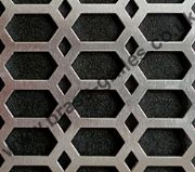 Honeycomb Decorative Metal Grille - Anodised Silver Aluminium (Sheet = 2000 x 1000 x 0.9mm)